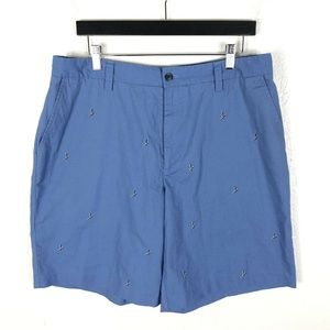 IZOD XFG Size 36 Blue Golf Tee Embroidered Shorts